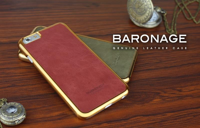 BUSHBUCK BARONAGE Classical Edition - Etui skórzane do iPhone 6s Plus / iPhone 6 Plus (czerwony)