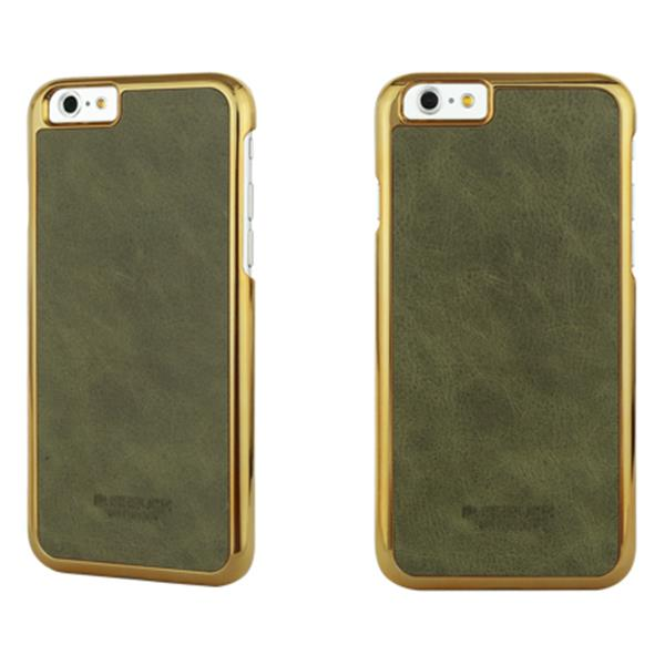 BUSHBUCK BARONAGE Classical Edition - Etui skórzane do iPhone 6s Plus / iPhone 6 Plus (oliwkowy)