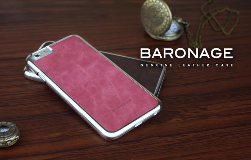 BUSHBUCK BARONAGE Classical Edition - Etui skórzane do iPhone 6s / iPhone 6 (fuksja)