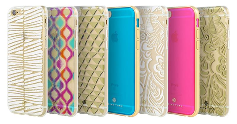 Incipio Trina Turk 2-Pc Case With Metallic Bumper - Etui iPhone SE / iPhone 5s / iPhone 5 (Blue/Gold)