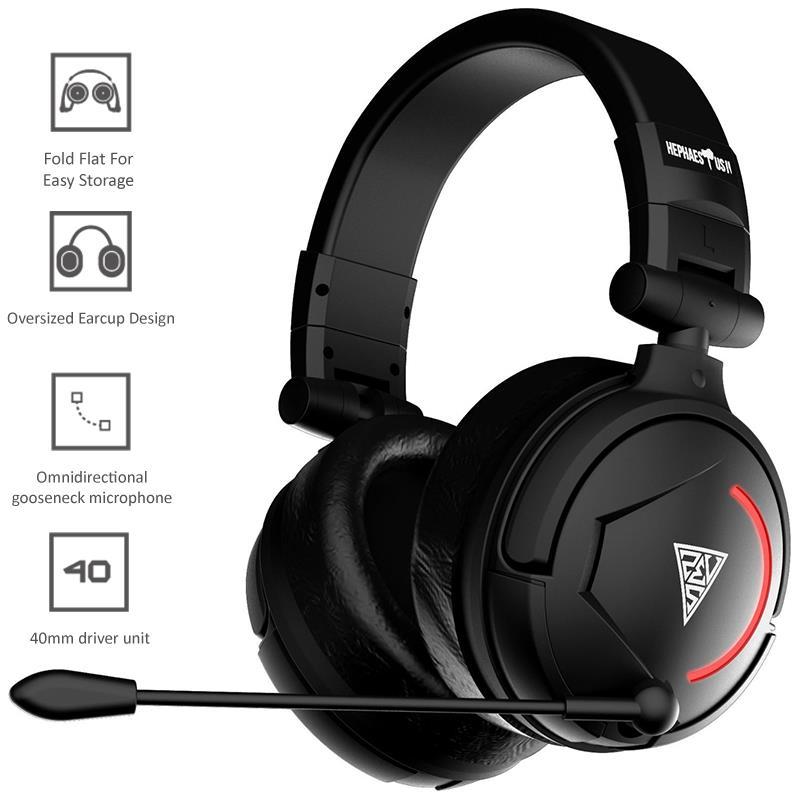 Gamdias Hephaestus II Stereo Lightning - Słuchawki stereofoniczne dla graczy z mikrofonem (USB)