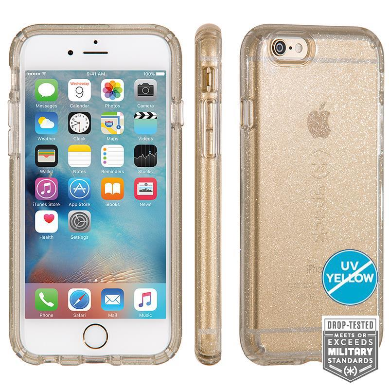 Speck CandyShell Clear with Glitter - Etui iPhone 6/6s (Clear/Gold Glitter)