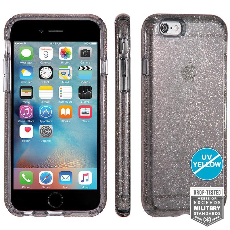 Speck CandyShell Clear with Glitter - Etui iPhone 6/6s (Onyx/Gold Glitter)