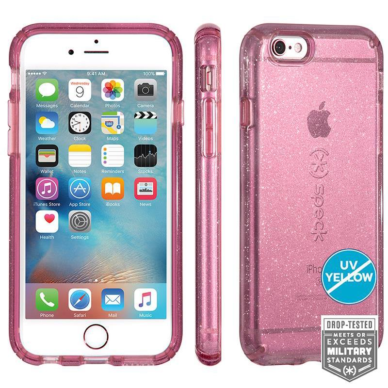 Speck CandyShell Clear with Glitter - Etui iPhone 6/6s (Beaming Orchid/Gold Glitter)