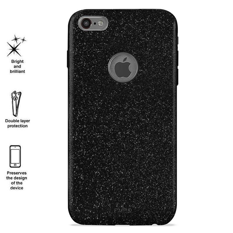 PURO Glitter Shine Cover - Etui iPhone 6 Plus/6s Plus (Piano Black)