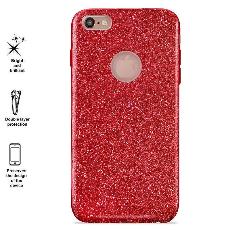 PURO Glitter Shine Cover - Etui iPhone 6 Plus/6s Plus (Red Love)
