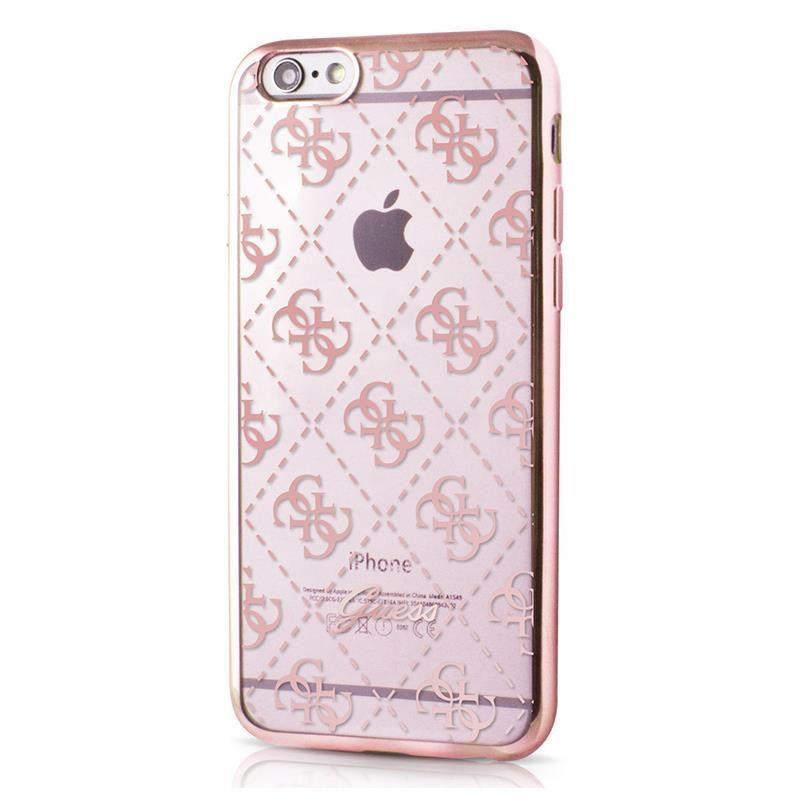 Guess 4G Transparent - Etui iPhone 6/6s (różowe złoto)