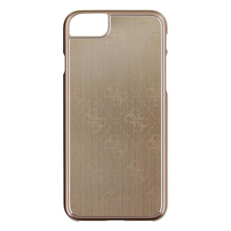 Guess 4G Aluminum Plate - Etui aluminiowe iPhone 7 (złoty)