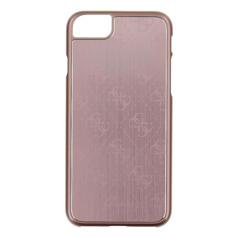 Guess 4G Aluminium Plate - Etui aluminiowe iPhone 7 (różowe złoto)