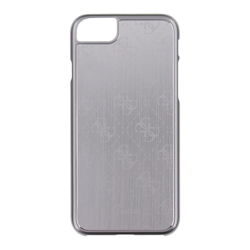 Guess 4G Aluminium Plate - Etui aluminiowe iPhone 7 (srebrny)