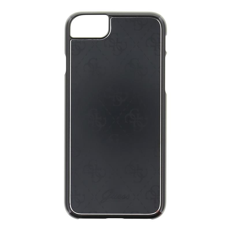 Guess 4G Aluminium Plate - Etui aluminiowe iPhone 7 (czarny)