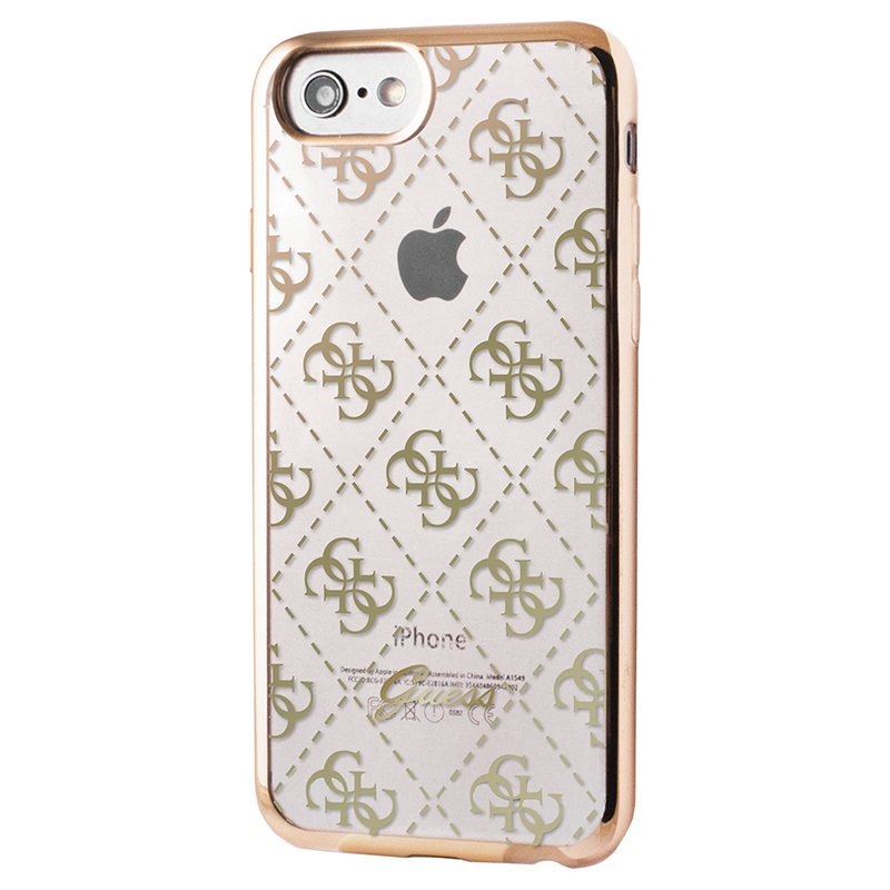 Guess 4G Transparent - Etui iPhone 7 (złoto)