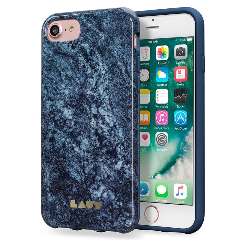 Laut HUEX ELEMENTS - Etui iPhone 7 z 2 foliami na ekran w zestawie (Marble Blue)