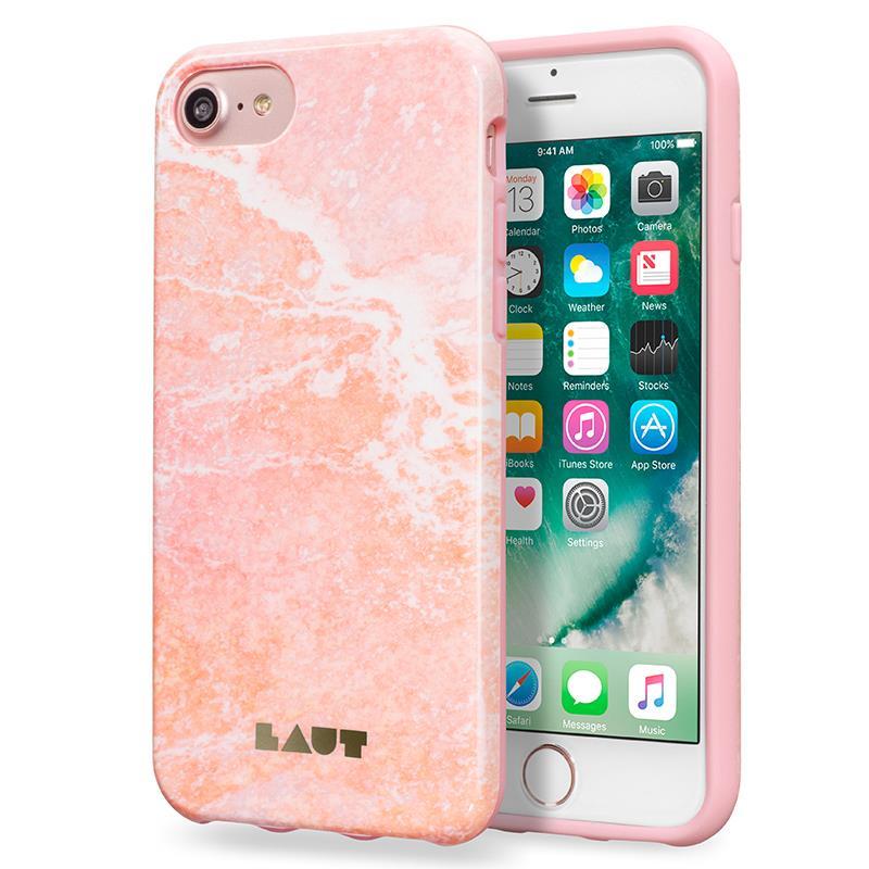 Laut HUEX ELEMENTS - Etui iPhone 7 z 2 foliami na ekran w zestawie (Marble Pink)