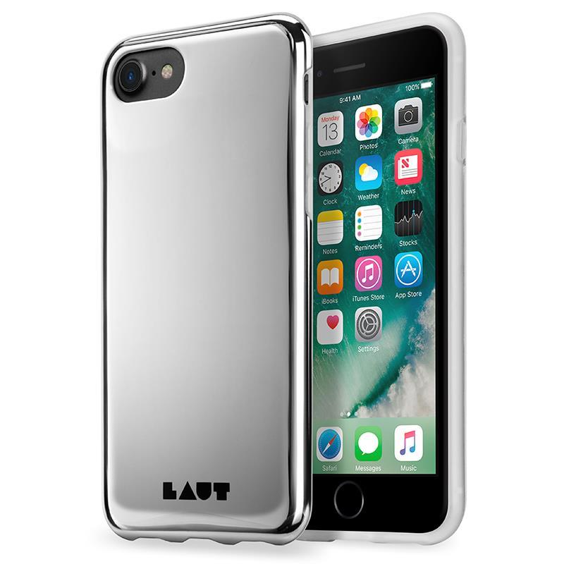 Laut HUEX METALLICS - Etui iPhone 7 z 2 foliami na ekran w zestawie (srebrny)