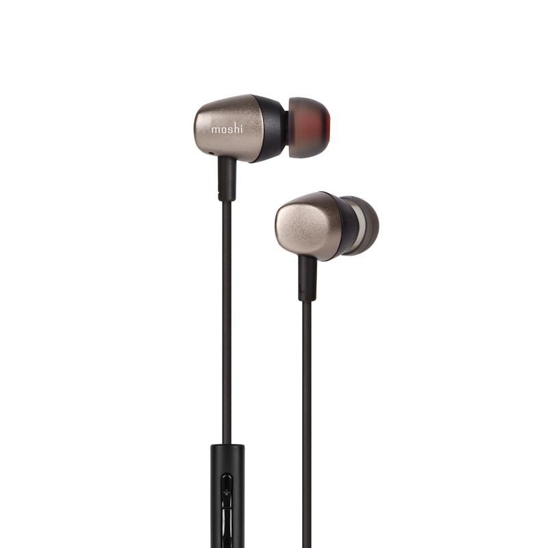 Moshi Mythro Air - Dokanałowe słuchawki bezprzewodowe Bluetooth (Gunmetal Gray)