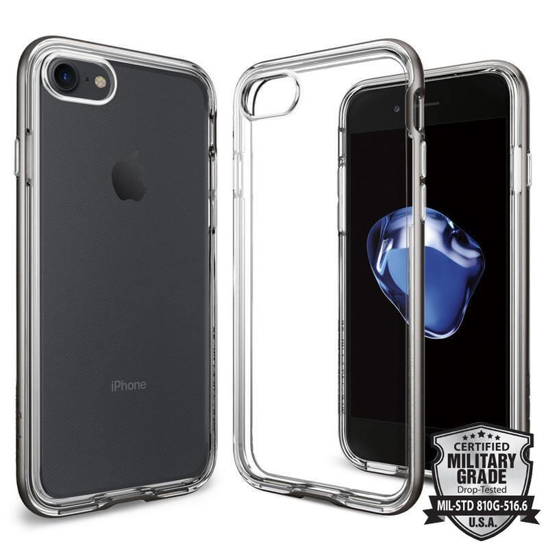 Spigen Neo Hybrid Crystal - Etui iPhone 7 (przezroczysty/Gun Metal)