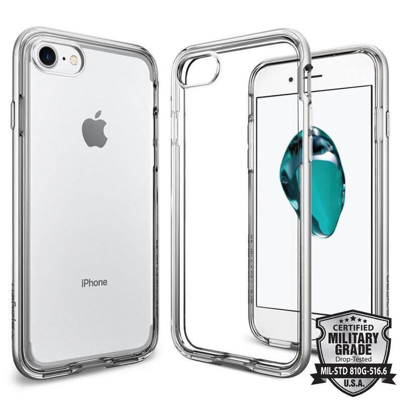 Spigen Neo Hybrid Crystal - Etui iPhone 7 (przezroczysty/Satin Silver)