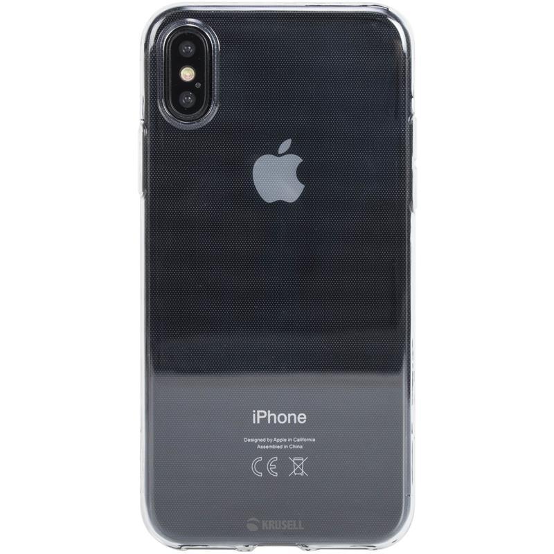 Krusell Bovik Cover - Etui iPhone X (przezroczysty)