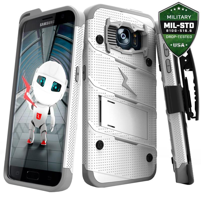 Zizo Bolt Cover - Pancerne etui Samsung Galaxy S7 edge (biały/szary)