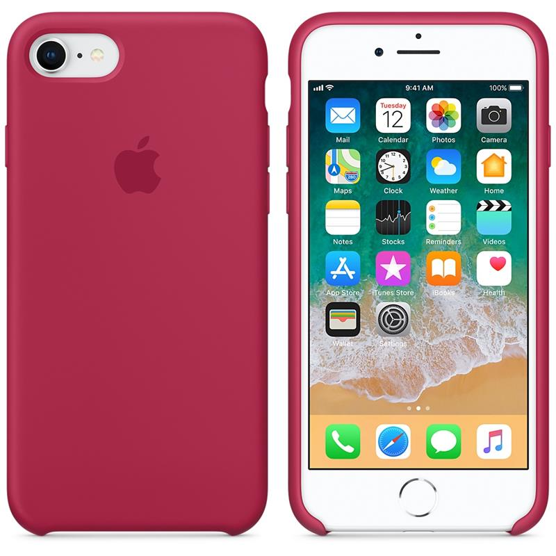 Apple Silicone Case - Silikonowe etui iPhone 8 / 7 (różana czerwień)