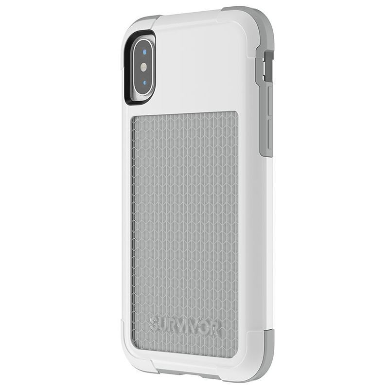 Griffin Survivor Fit - Pancerne etui iPhone X (biały/szary)