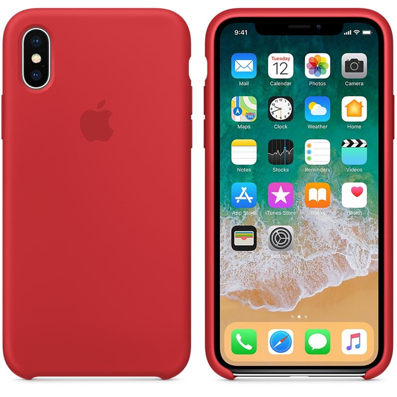Apple Silicone Case - Silikonowe etui iPhone X (czerwony) (PRODUCT)RED