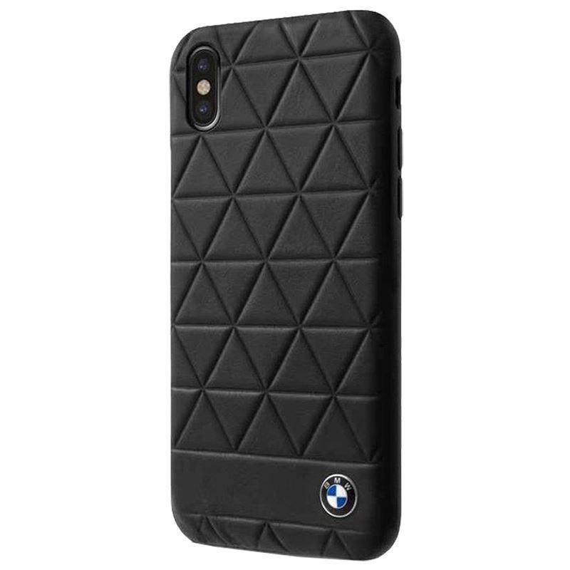 BMW Hexagon Case - Etui skórzane iPhone X (czarny)