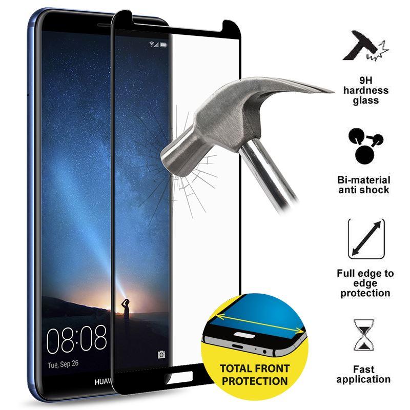PURO Frame Tempered Glass - Szkło ochronne hartowane na ekran Huawei Mate 10 Lite (czarna ramka)