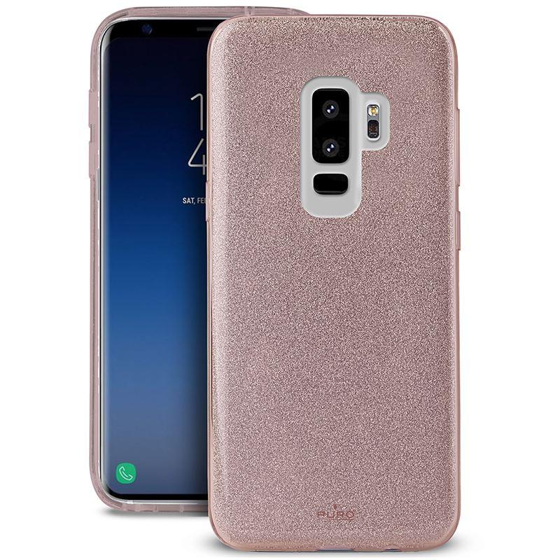 PURO Glitter Shine Cover - Etui Samsung Galaxy S9+ (Rose Gold)