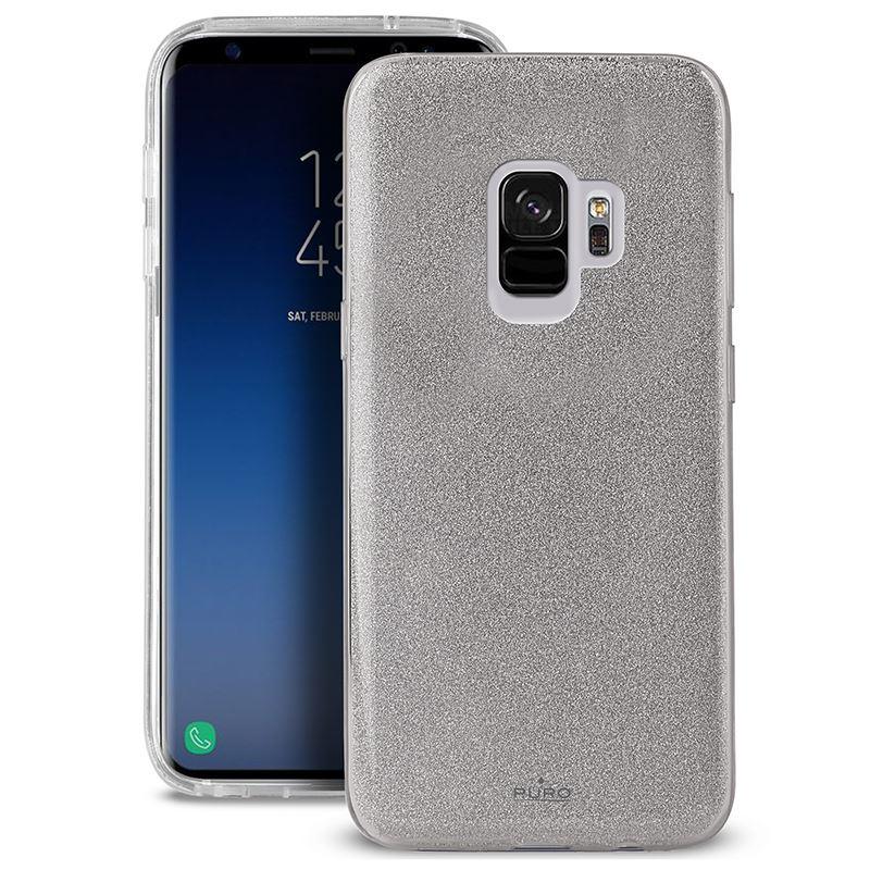 PURO Glitter Shine Cover - Etui Samsung Galaxy S9 (Silver)