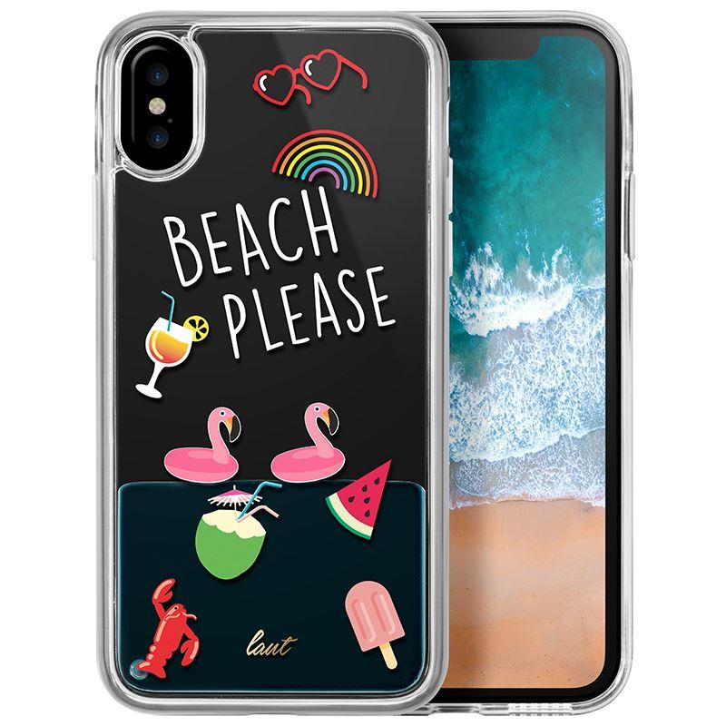 Laut POP BEACH PLEASE - Etui iPhone Xs / X z 2 foliami na ekran w zestawie (Beach please)