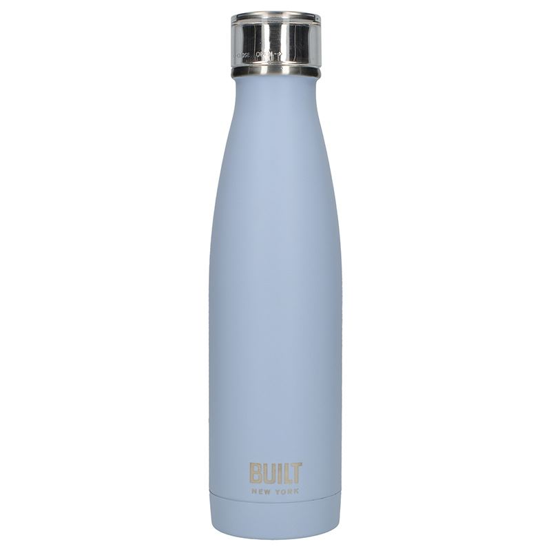 BUILT Perfect Seal Vacuum Insulated Bottle - Stalowy termos próżniowy 0,5 l (Arctic Blue)