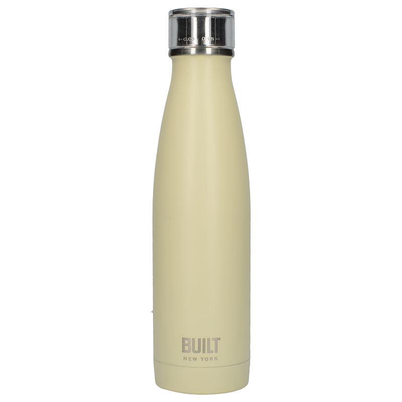 BUILT Perfect Seal Vacuum Insulated Bottle - Stalowy termos próżniowy 0,5 l (Vanilla)