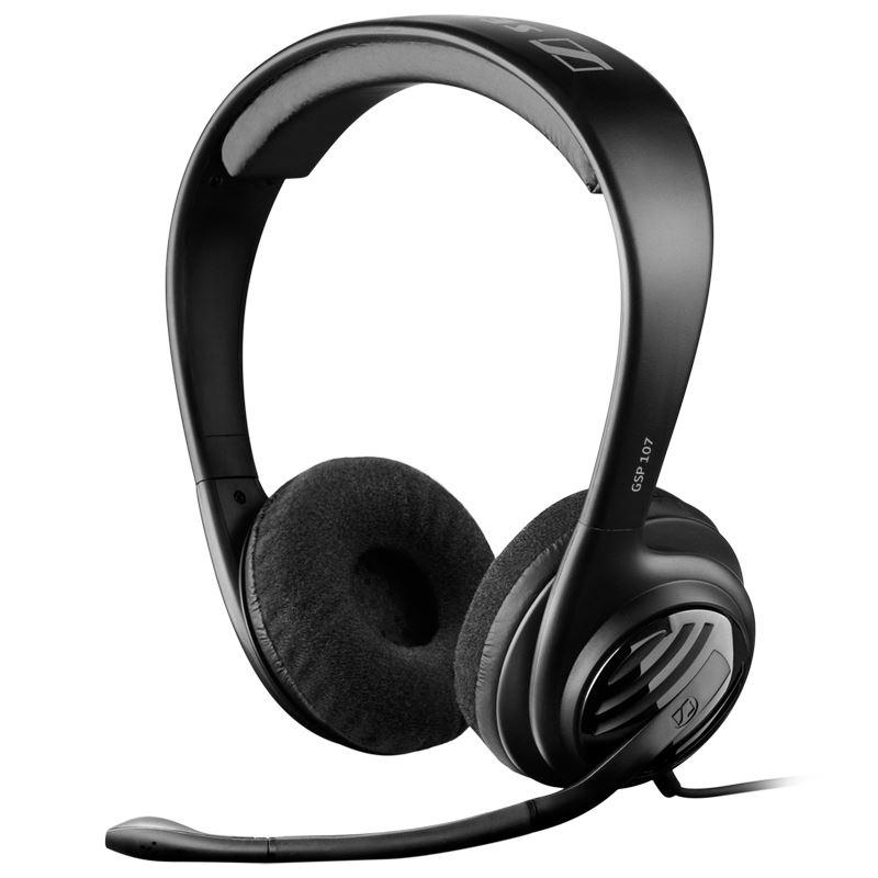 Sennheiser GSP 107 - Otwarte dynamiczne słuchawki stereofoniczne dla graczy o konstrukcji supra-aural (czarny)