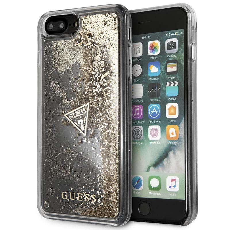 Guess Liquid Glitter - Etui iPhone 8 Plus / 7 Plus (złoty)