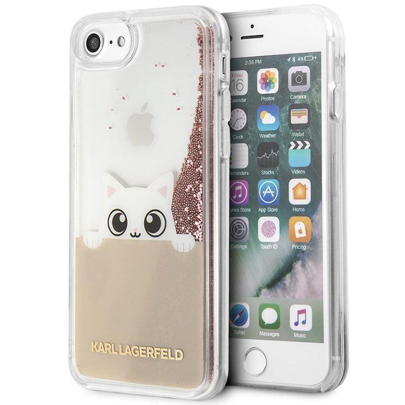 Karl Lagerfeld K-Peek A Boo - Etui iPhone 8 / 7 (Glitter Pink Gold)
