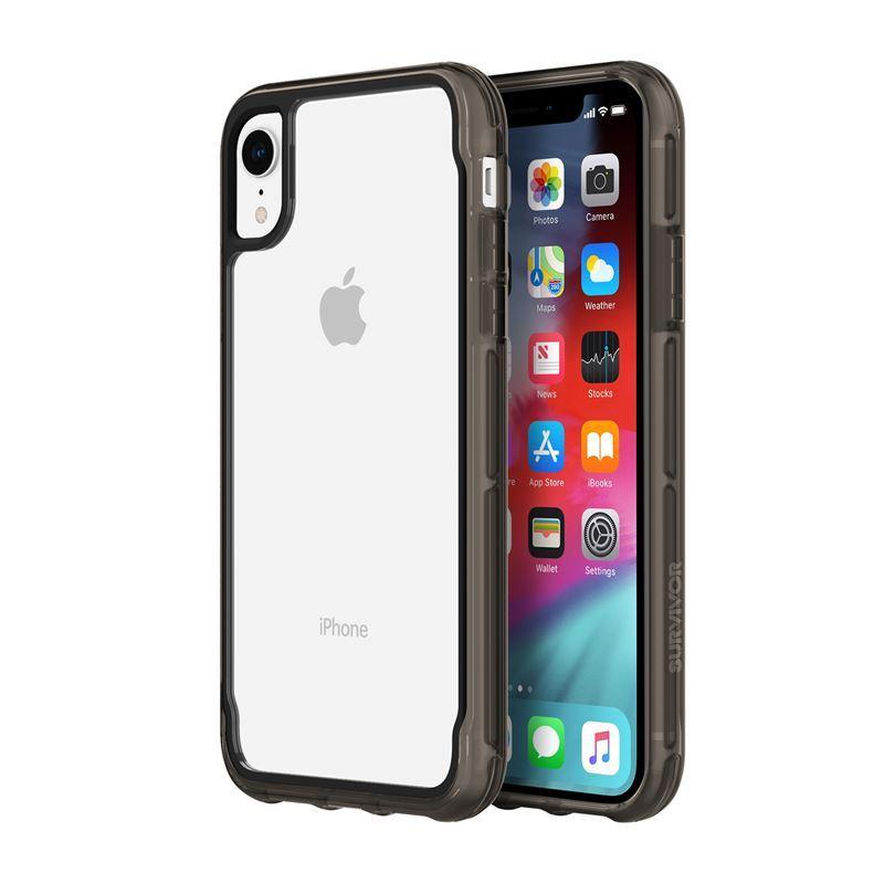Griffin Survivor Clear - Etui iPhone XR (przezroczysty/czarny)