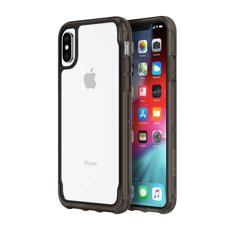 Griffin Survivor Clear - Etui iPhone Xs (przezroczysty/czarny)