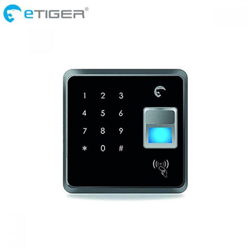 eTIGER RFID Fingerprint Keypad - Zestaw bezprzewodowej klawiatury biometrycznej z brelokami RFiD
