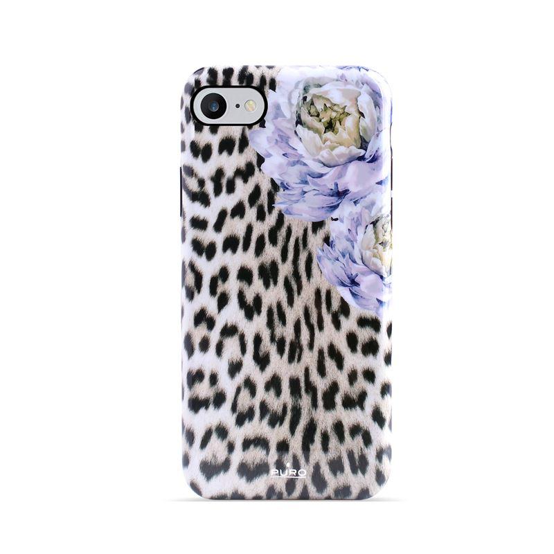 PURO Glam Sweet Leopard -  Etui iPhone 8 / 7 / 6s / 6 (Leo Peonies)