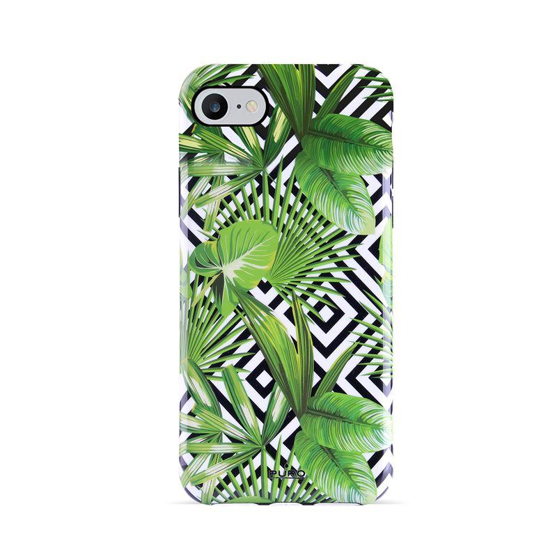 PURO Glam Tropical Leaves - Etui iPhone 8 / 7 / 6s / 6 (Geometric Jungle)