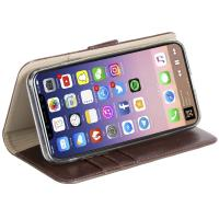 Krusell Ekerö FolioWallet 2in1 - Etui 2w1 iPhone X z kieszeniami na karty + stand up (Coffe)