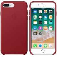 Apple Leather Case - Skórzane etui iPhone 8 Plus / 7 Plus (czerwony) (PRODUCT)RED