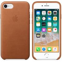 Apple Leather Case - Skórzane etui iPhone 8 / 7 (naturalny brąz)