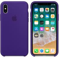 Apple Silicone Case - Silikonowe etui iPhone X (fiolet ultra)