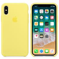 Apple Silicone Case - Silikonowe etui iPhone X (lemoniadowy)