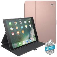 "Speck Balance Folio Metallic - Etui iPad 9.7"" (2018/2017) / iPad Pro 9.7"" / iPad Air 2 / iPad Air w/Magnet & Stand up (Textured Rose Gold/Graphite Grey)"